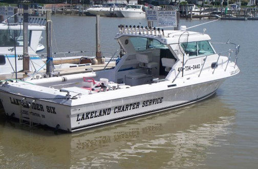 The Lakelander 6 a lake erie fishing charter boat
